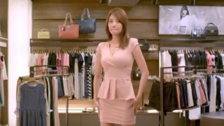 女子换上男子挑选的衣服, 男子傻了