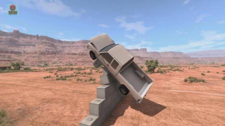亚当熊 车祸模拟器: 开越野车来个撞墙碰撞测试, 这也太爽了