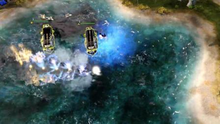 红色警戒3 起义时刻 挑战模式 对抗盟军重型轰炸机, 超时空传送航母怕不怕