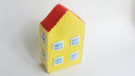 第36集 赛君手作 存钱罐小猪佩奇的家钩针编织视频教程