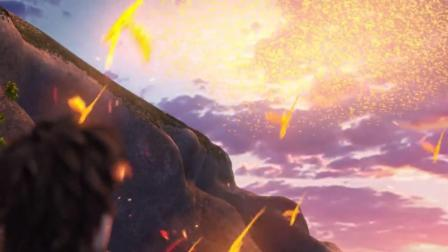 """天上一大片""""火云"""",可仔细一看,却是一条条小火龙"""