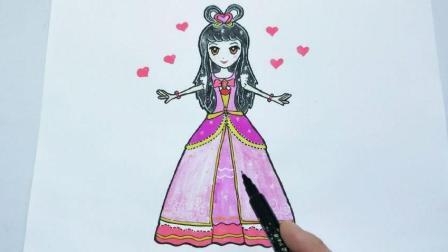 叶罗丽6季的王默舞衣简笔画, 简单又好看, 喜欢的小朋友不要错过