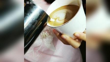 爱心咖啡拉花分享