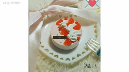 草莓千层慕斯粘土蛋糕
