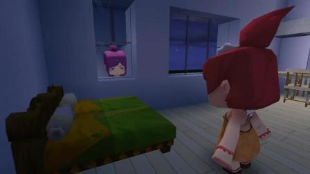 迷你世界小边儿拍悬疑电影, 窗户台趴着一个女人