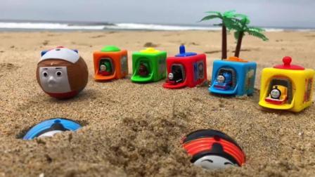 托马斯小火车 玩具分享英语 09 thomas and friends trains disney cars toys ligh