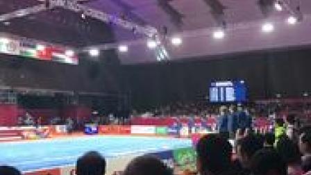 亚运会首金即将产生,武术男子长拳决赛。这出
