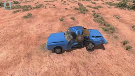 亚当熊 车祸模拟器, 大炮弹撞击车辆瞬间, 这碰撞也太逼真了