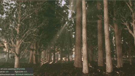 七喜: C4D森林场景制作-OC渲染