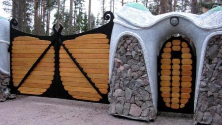 个性化的大门设计, 非常有创意, 真想在家装这么一扇!