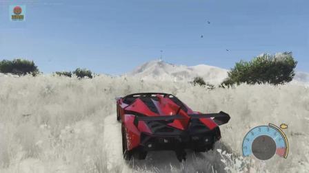 亚当熊 GTA5: 钢铁侠开兰博基尼去雪地撒野, 竟然发生这样的事