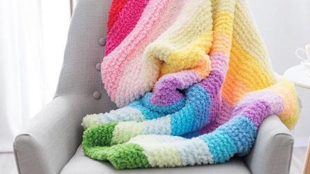 燕子编织-彩虹毯子