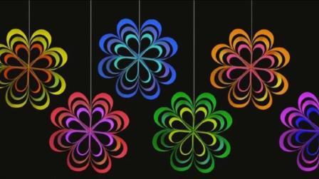 八瓣吊饰花真漂亮, 1分钟用纸条做出来, 幼儿园教师为小朋友收藏