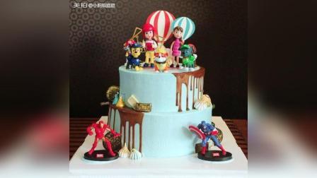 创意卡通双层蛋糕
