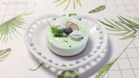 清新柠檬草粘土蛋糕