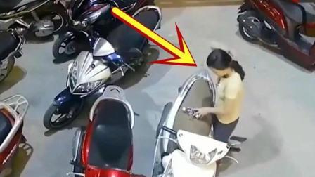 女子在店门口扎了一下头发, 差点搭上自己的命!