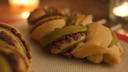 抹茶红豆辫子面包, 烛光晚餐式的制作氛围, 用心细致的制作工艺, 只为呈现更好的美味
