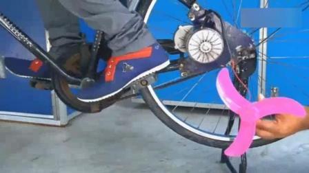 学生把自行车改装成发电机, 一天能发五度电, 再也不用交电费了