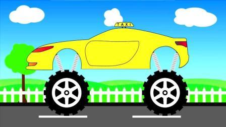 汽车拼装游戏 山地出租车 超级汽车