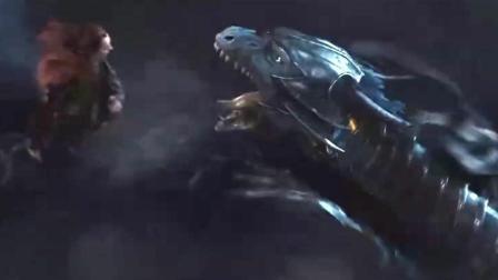 维塔数码和工业光魔联合打造的超顶级特效, 蓝色巨龙大战黑色巨龙