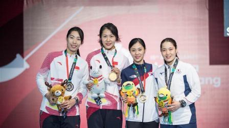 【第七金】女子佩剑个人赛中国包揽冠亚军, 钱佳