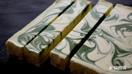 日本巧手媳妇儿, 白巧抹茶芝士大理石蛋糕, 精致的不忍心吃