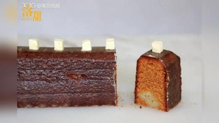 焦糖香蕉磅蛋糕: 如何帮助磅蛋糕膨胀后的凸起幅度减小