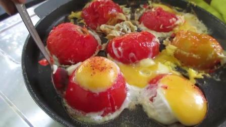 印度大叔: 西红柿炒蛋吃多了, 你吃过西红柿烤蛋么!