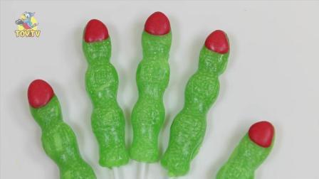 万圣节僵尸手指棒棒糖