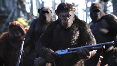 人类感染病毒, 退化成野兽, 猩猩成为地球的新主人! 速看科幻电影《猩球崛起3: 终极之战》