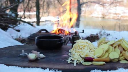 【超清】塞尔维亚森林大厨110 芝士焗薯饼