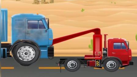 汽车养护修理厂 道路救援车将事故车辆送到维修厂维修 休闲益智游戏
