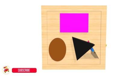 认识颜色, 学习形状, 智力拼图找出相同的图形放进箱子