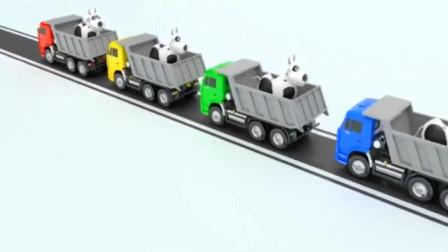 大卡车运小汽车 大家来停大卡车 工程车 掘机玩具 大吊车工作视频.mp4