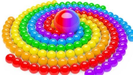 彩球玩具转圈圈认识不同的颜色