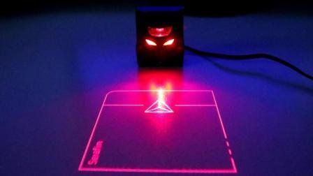 世界第一款可投影鼠标, 敲击桌子控制电脑, 不用怕手汗!