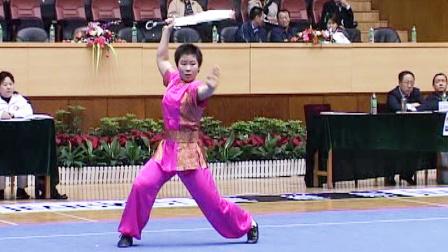 第十届全运会女子武术套路预赛 女子南刀 005 贺靖雅(四川)
