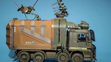 模神魔改战狼迷弟玩具垃圾车改超酷装甲车重涂旧化上色涂装教程教学章鱼哥其实是老司机