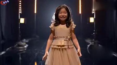 9岁香港小神童谭芷昀, 美国达人秀比赛, 小姑娘唱得太棒了