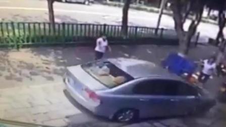 男子洗车不满意开车猛撞洗车女工, 39秒内反复碾压其4次! 网友: 判死刑