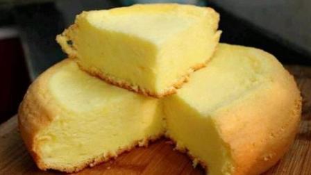 平底锅做蛋糕, 不放一滴水, 做出的蛋糕暄软香甜, 太好吃了