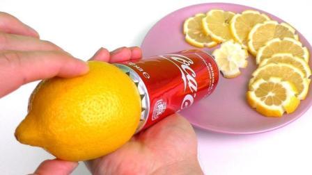 非常有创意的水果切片机, 原来可乐罐也有大用处!