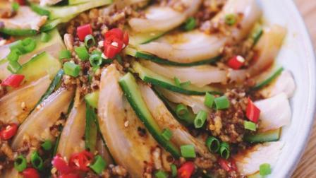 蒜泥白肉, 黄瓜与五花肉的绝配, 好吃不腻, 我能吃两碗米饭
