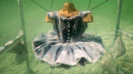 设计师将一件衣服放进死海, 2年之后捞起来, 成啥样了?
