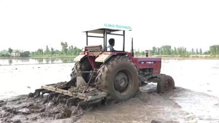 拖拉机水田里耕地, 这样的拖拉机干一天能赚多少钱?