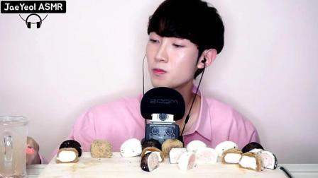 韩国吃播: 小娘炮吃播提拉米苏糯米团子, 看他吃的样子好想揍他!