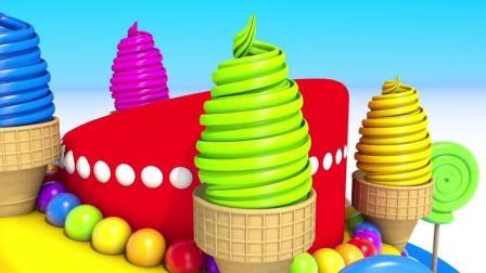益智趣味动画片 七彩蛋糕棒棒糖冰激凌