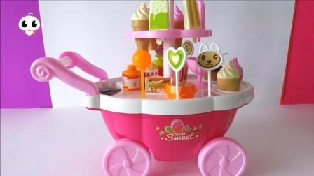冰淇淋、雪糕、棒棒糖, 宝宝喜欢的, 这辆玩具甜品车都有!