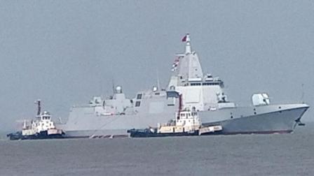 激动人心! 国产万吨055型驱逐舰首舰试航 现场图片曝出