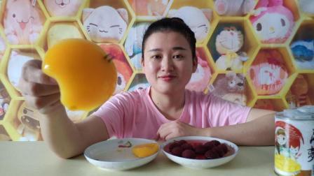 试吃黄桃, 杨梅, 菠萝, 桔子, 雪梨罐头, 最爱黄桃, 你们呢